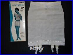 Vintage Maidenform Dipped Waist Open Bottom Girdle nylon acetate Rubber