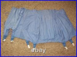 Vintage Modart Blue Cotton High Waist Corset Open Bottom Garter Girdle