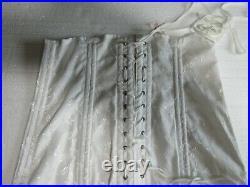 Vintage Montgomery Ward Open Bottom Girdle Corset WHITE Lingerie