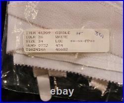 Vintage NWT Crown-ette OBG Open Bottom Girdle withSatin Panels sz 34
