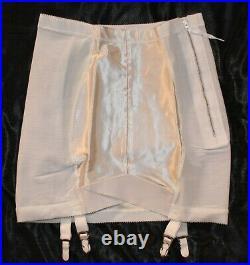 Vintage NWT White OBG Open Bottom Girdle withSatin Panels sz 32