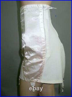 Vintage New 50s Satin Panel Open Bottom Garter Girdle Rockabilly Corset Size 44