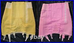 Vintage New Dyed Crown Hi-waist Firm OBG Open Bottom Girdle sz 30