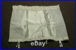 Vintage New Grenier Firm Control Zippered Open Bottom Girdle with Garters Wh 7X