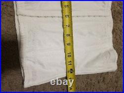 Vintage Open BOTTOM Corset medium eye hook white boning lingerie