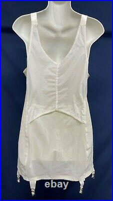 Vintage Open Bottom Girdle All in One Garter Corset Bust Size 44