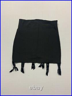 Vintage Open Bottom Girdle Bonwit Silk Chiffon Black VINTAGE