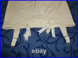 Vintage Open Bottom Girdle/ French Boudoir / 4 Garters / Shapewear