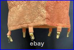 Vintage PINK LACE Open Bottom Girdle All in One Garter Bust Size 40