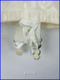 Vintage PROMISE POIRETTE High-Waist Open Bottom Girdle Shaper with Garters SZ33 21