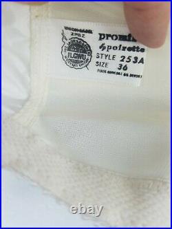 Vintage PROMISE POIRETTE High-Waist Open Bottom Girdle Shaper with Garters SZ36 21