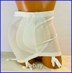 Vintage PinUp SHAPER GIRDLE BODY New Old Stock OPEN BOTTOM 6 GARTERS XLarge