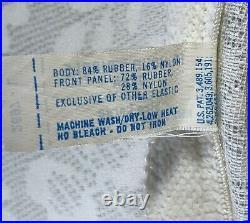 Vintage Playtex 18hr Open Bottom girdle garters white sz Large 84% rubber