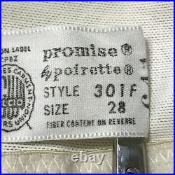 Vintage Poirette Promise Size 28 Satin Panel Open Bottom Girdle Style 301F