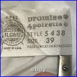Vintage Poirette Promise Size 39B Nylon Panel Open Bottom All in One Girdle