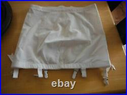 Vintage ROSEBUD Flexees PLUS Open Bottom Girdle 36 with 6 metal Garters 1980 New