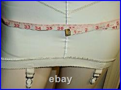Vintage RUBBER girdle OPEN Bottom 4 Garters Sz Med TIGHT FormFlex 30With36 Hips