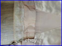 Vintage Rare BESTFORM Corset Griddle Pale Rose Satin Open Bottom Size 26