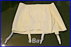 Vintage Rengo Open Bottom Girdle Hook n Eye Closure with Garters Medium / White