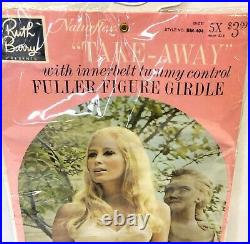 Vintage Ruth Barry Naturflex Tummy Shaper Full Figure Girdle 1X Open Bottom NOS