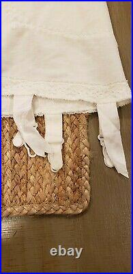 Vintage SUBTRACT CORSET GIRDLE OPEN BOTTOM With 6 GARTERS WHITE SIZE 32