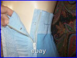 Vintage Sears Blue High Waist Corset Open Bottom Garter Girdle 32