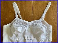 Vintage Sears Bra Girdle All In One Foundation 42B Unworn Open Bottom/Garters