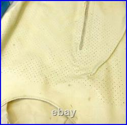 Vintage Sears Charmode LATEX Rubber GIRDLE S/M Zipper Open Bottom withTube Ivory