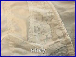 Vintage Style White Open Bottom Girdle Suspenders Corset 3xl Boned Sexy Basque