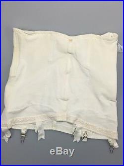 Vintage Subtract Shapewear Open Bottom Girdle Six Garters Waist 31 Hips 34