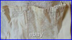 Vintage The Smoother by Young Smoothie White Open Bottom Girdle withSide Zippers