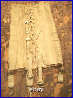 Vintage Tiny Salesman Sample Or Doll Open Bottom Corset Girdle With Garters