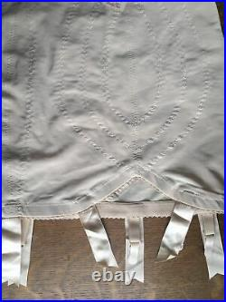 Vintage Vanity Fair Open Bottom Girdle, size small, tan 6 garter attachments USA