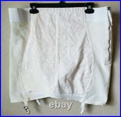Vintage Venus by Cortland Open Bottom Girdle w\ hooks zipper & 4 garters Size 42