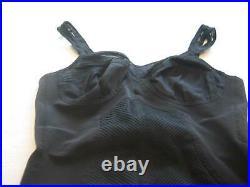 Vintage WARNER'S Black Bra Open Bottom Girdle 6 Garters Style 3459 Size 34B P