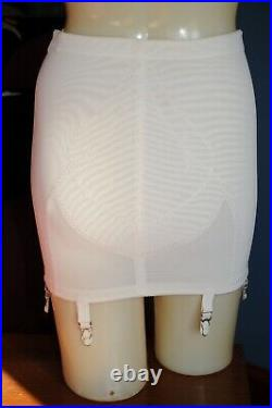 Vintage Warners Open Bottom Girdle, Large, White