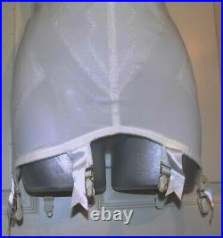 Vintage White Flexees Open Bottom Girdle XL Metal Garters