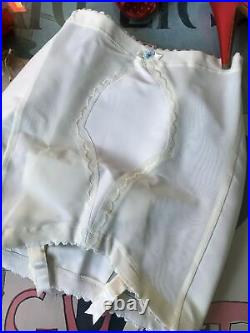 Vintage open bottom GIRDLE With 4 Garters EXQUISITE FORM MEDIUM Old Stock