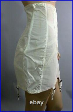 VtgPoiretteOpen Bottom Acetate Taffeta Hi-Waist Garters Zipper Girdle Corset