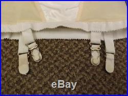 Vtg 1950s 60s NEW Satin Panel Rubber Open Bottom Hosiery Garters Girdle S 25/26