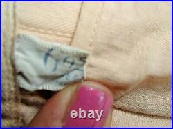 Vtg 20s 30s peach Gossard Corset Open bottom Lace Up Boned Garter strap 30 waist
