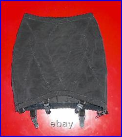 Vtg 70s Open Bottom Girdle WARNER'S Black Shapewear Lingerie USA Sz MD
