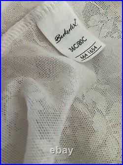 Vtg Berkertex Open Bottom Stretch Girdle 4 Suspenders Size Bust 36c