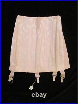Vtg Bestform OPEN BOTTOM GIRDLE 4 Garters Size 27 USA NWT