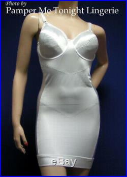 Vtg Bra Bustier Open Bottom NO CLIMB SLIP Mini Dress All in One Girdle 44B