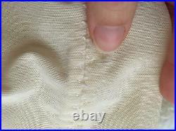 Vtg CORSELETTE 6 Garters Open Bottom Corset Girdle 34C Embroidered Satin Sheer