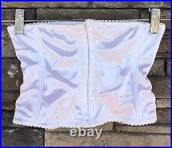 Vtg OPEN BOTTOM GIRDLE CORSET Second Skin Size M Waist Brocade White Sears