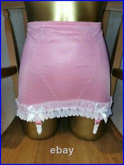Vtg Pantie Girdle Open Bottom Sweet Pink By Silhouette Waist Size 29-30 #68