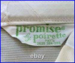 Vtg Poirette Satin Acetate /nylon 6-garter Side-zip Open Bottom Girdle 28/m