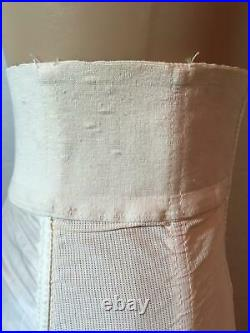 Vtg SATIN PANELS Open Bottom GIRDLE 6 Garters Size 29 M L SMOOTHIE CONTROLEUR